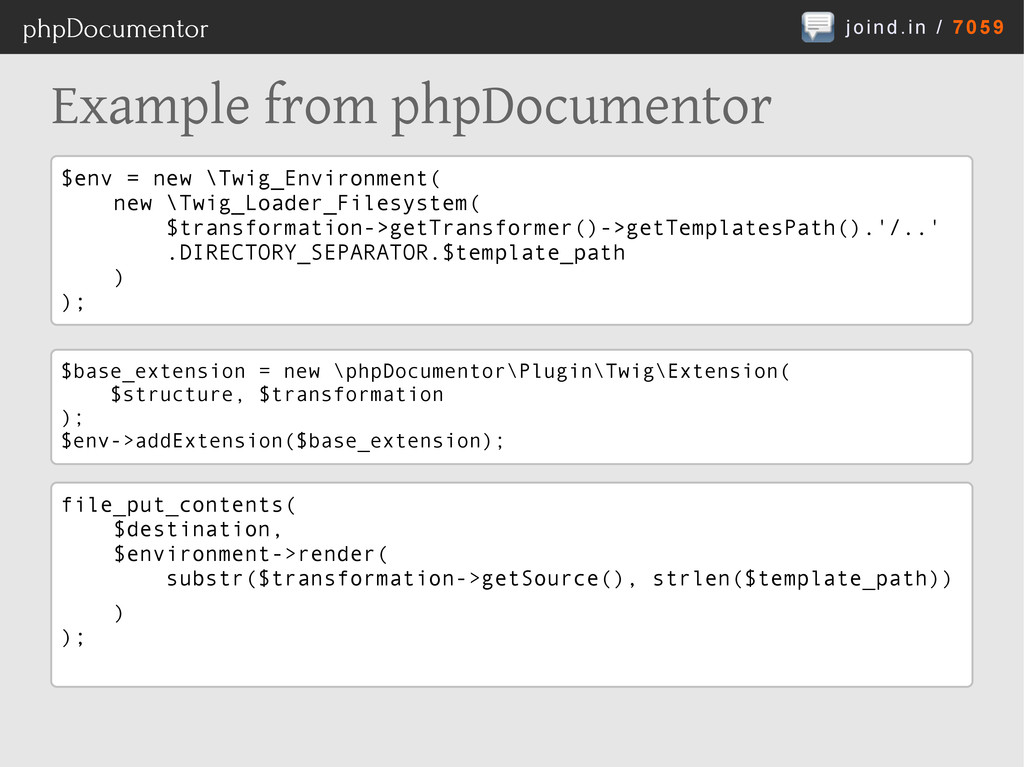 joind.in / 7059 phpDocumentor Example from phpD...
