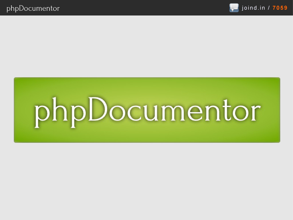 joind.in / 7059 phpDocumentor