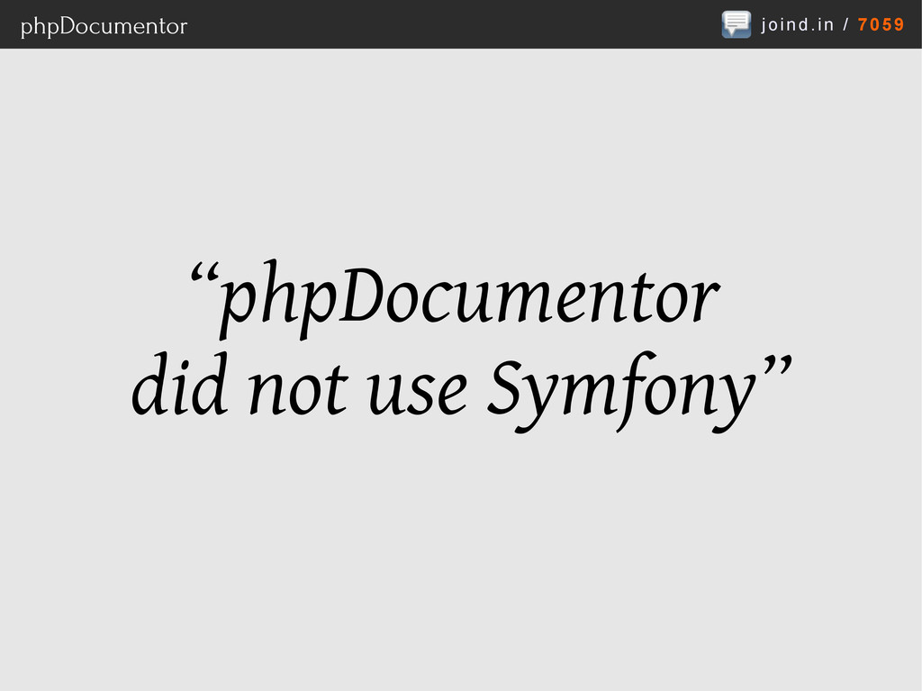 """joind.in / 7059 phpDocumentor """"phpDocumentor di..."""