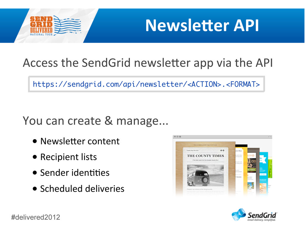 #delivered2012 NewsleEer	