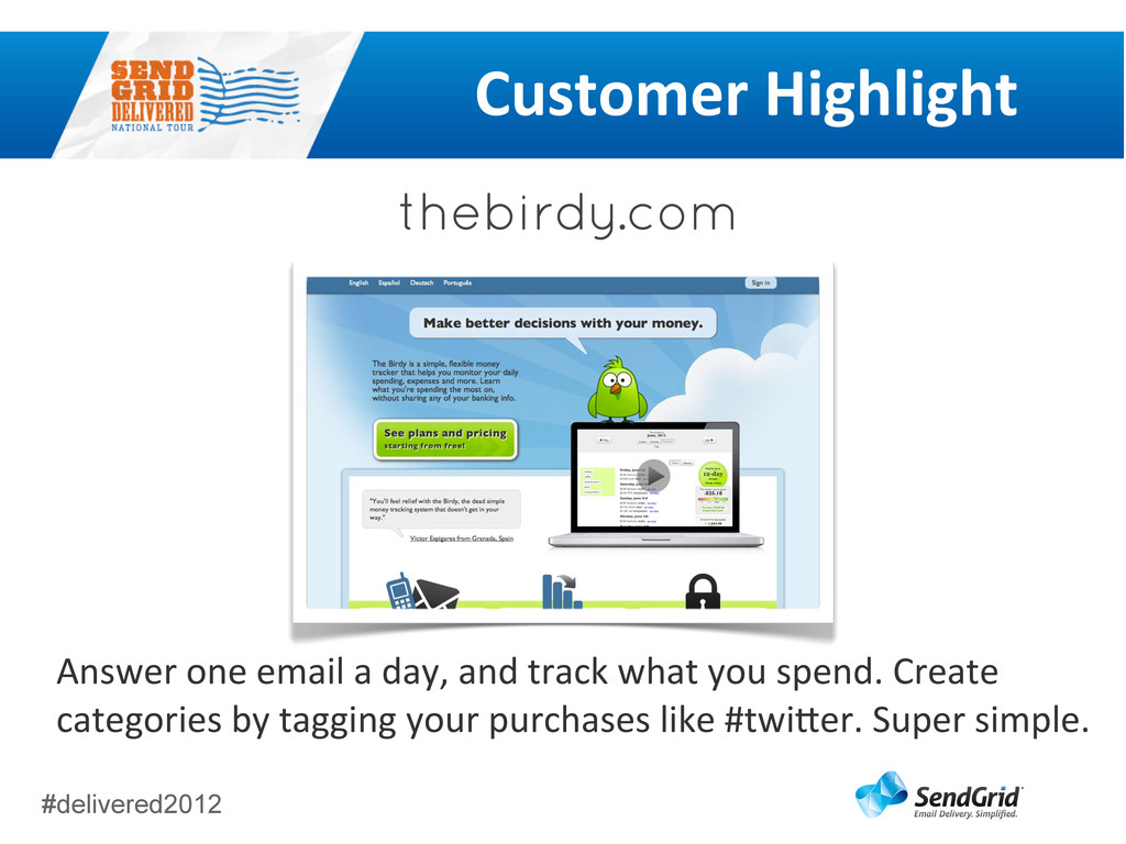 #delivered2012 Customer	