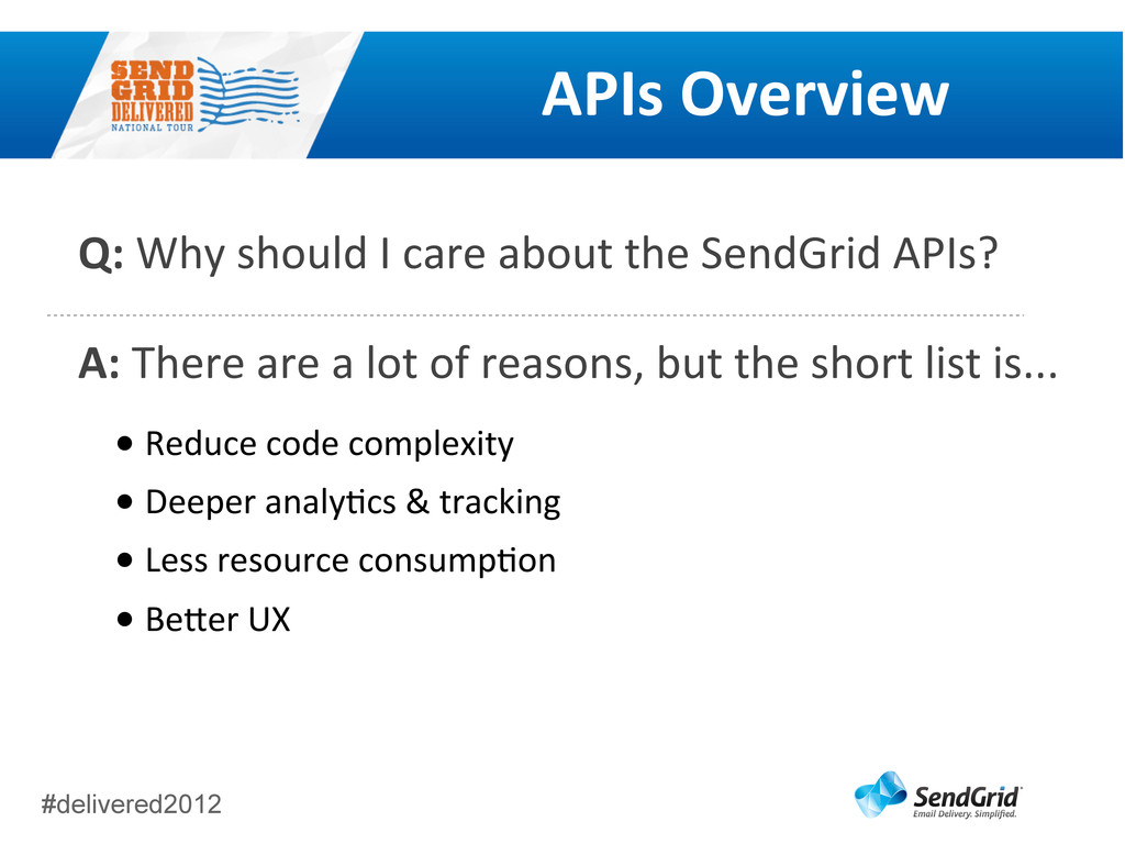 #delivered2012 APIs	