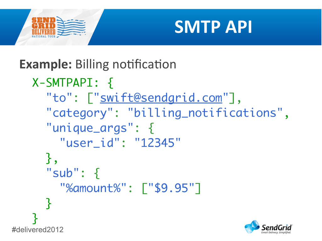 #delivered2012 SMTP	