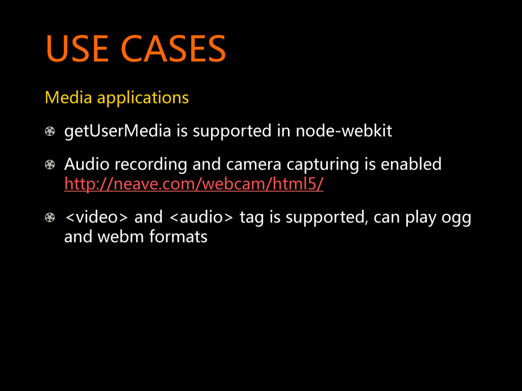 USE CASES  Media applications  ! getUse...