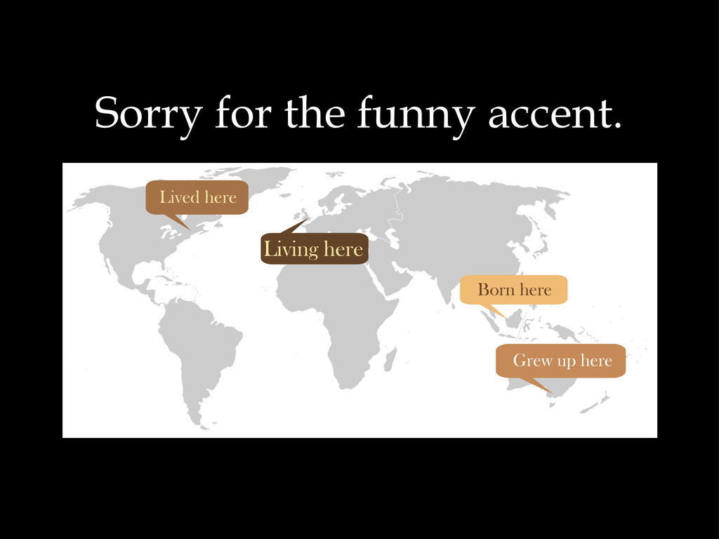 Sorry for the funny accent. Born here Grew up h...