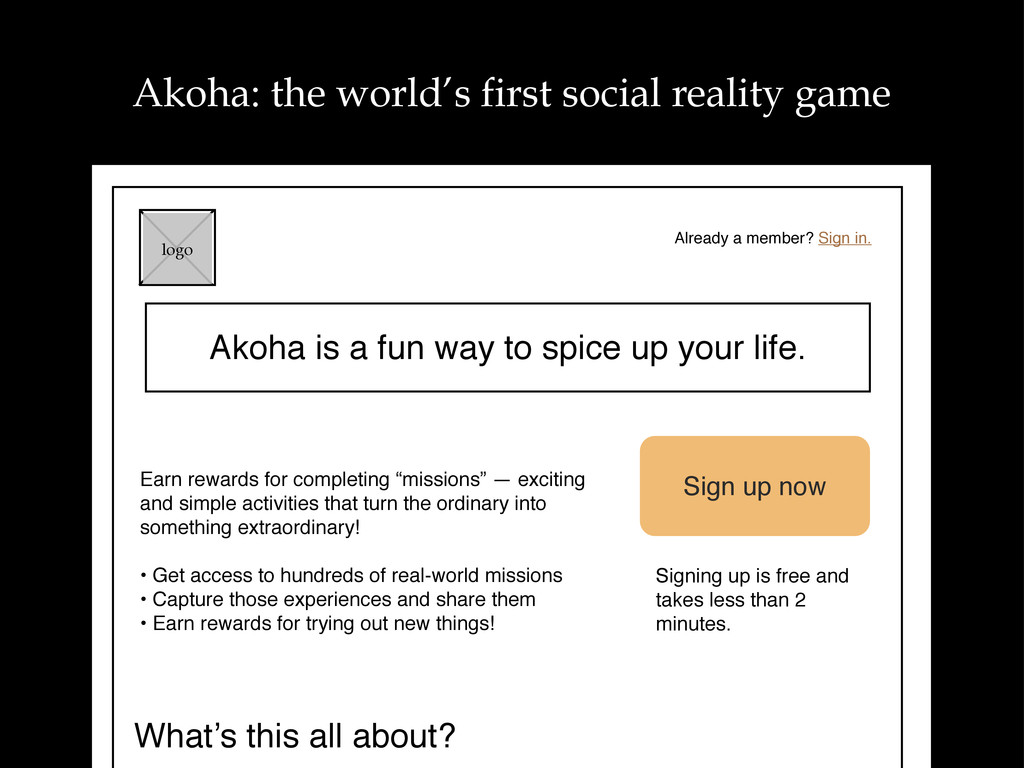 Akoha is a fun way to spice up your life. logo ...