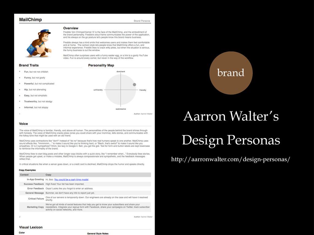 Aarron Walter's Design Personas http://aarronwa...