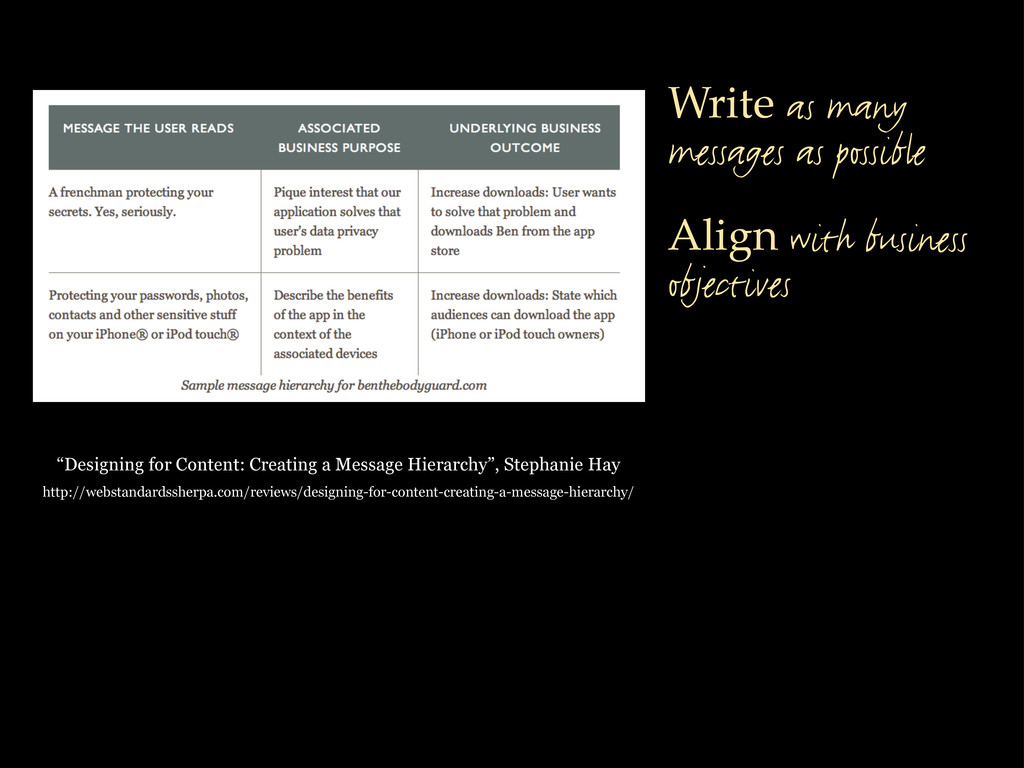 """""""Designing for Content: Creating a Message Hier..."""