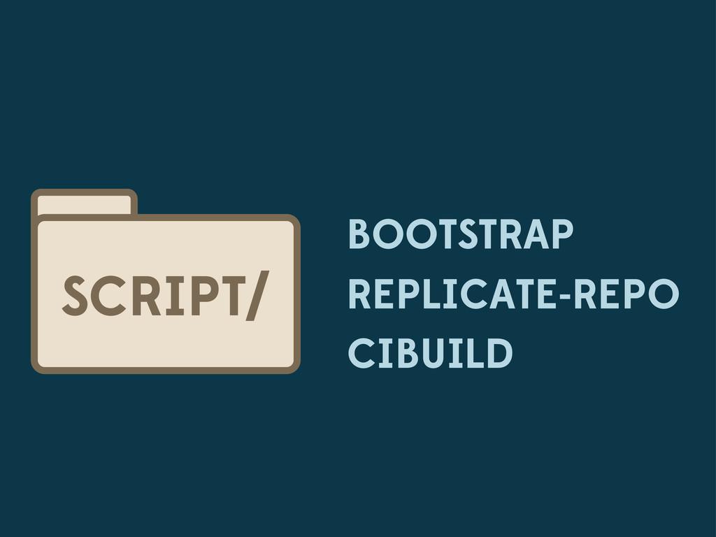 BOOTSTRAP REPLICATE-REPO CIBUILD SCRIPT/