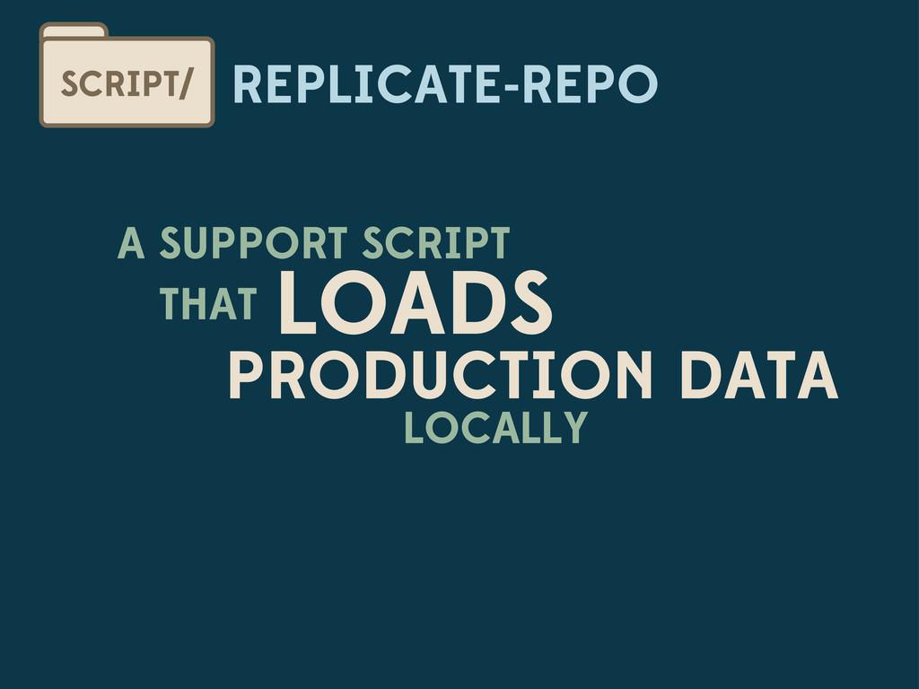 REPLICATE-REPO SCRIPT/ A SUPPORT SCRIPT THAT LO...