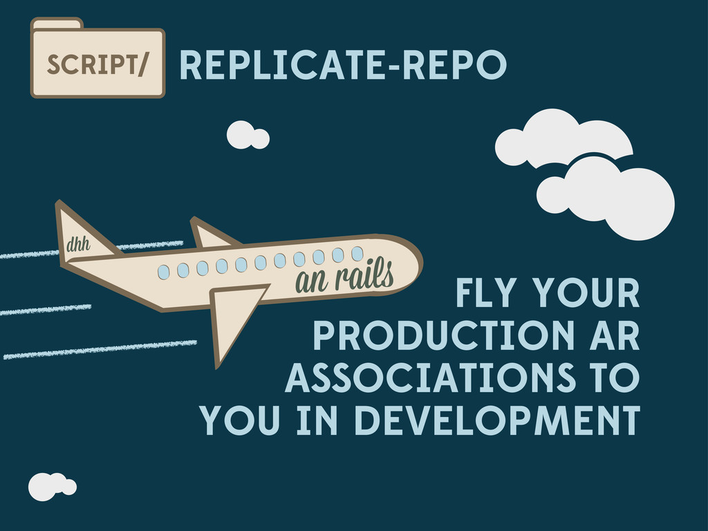 REPLICATE-REPO SCRIPT/ FLY YOUR PRODUCTION AR A...