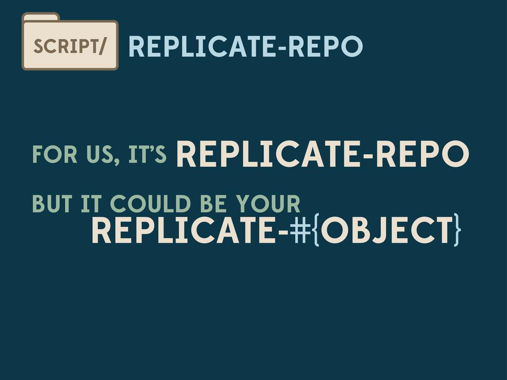 REPLICATE-REPO SCRIPT/ FOR US, IT'S REPLICATE-R...