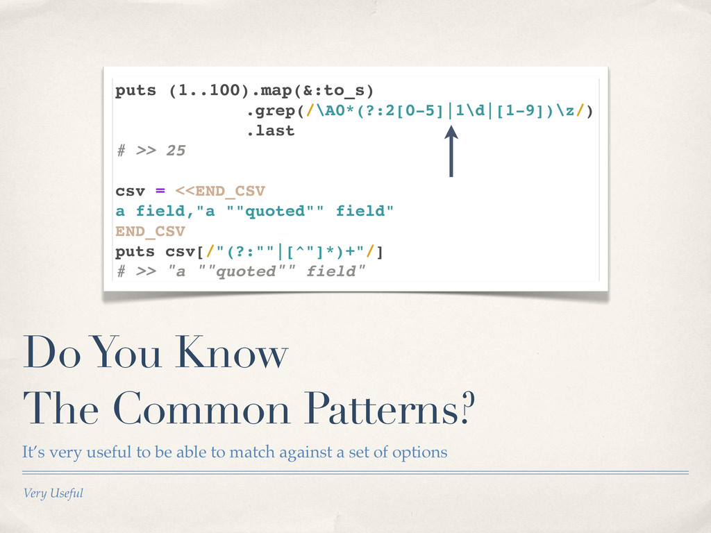 Very Useful Do You Know The Common Patterns? It...