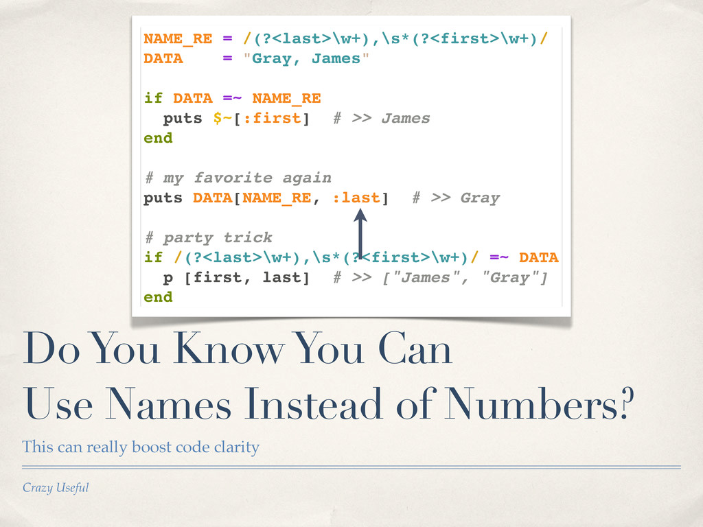 Crazy Useful Do You Know You Can Use Names Inst...