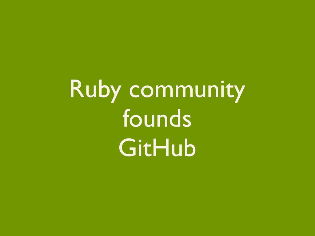 Ruby community founds GitHub