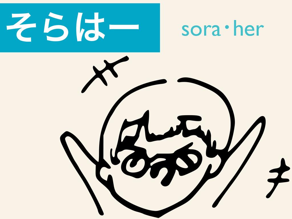 ͦΒʔ soraŋher