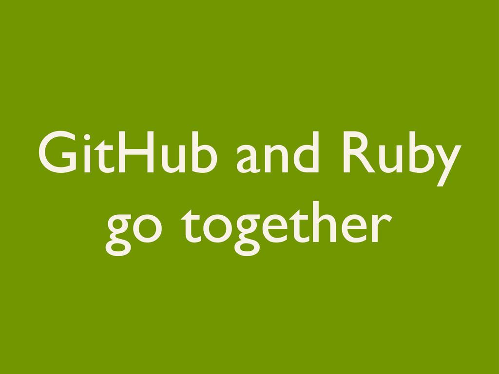 GitHub and Ruby go together