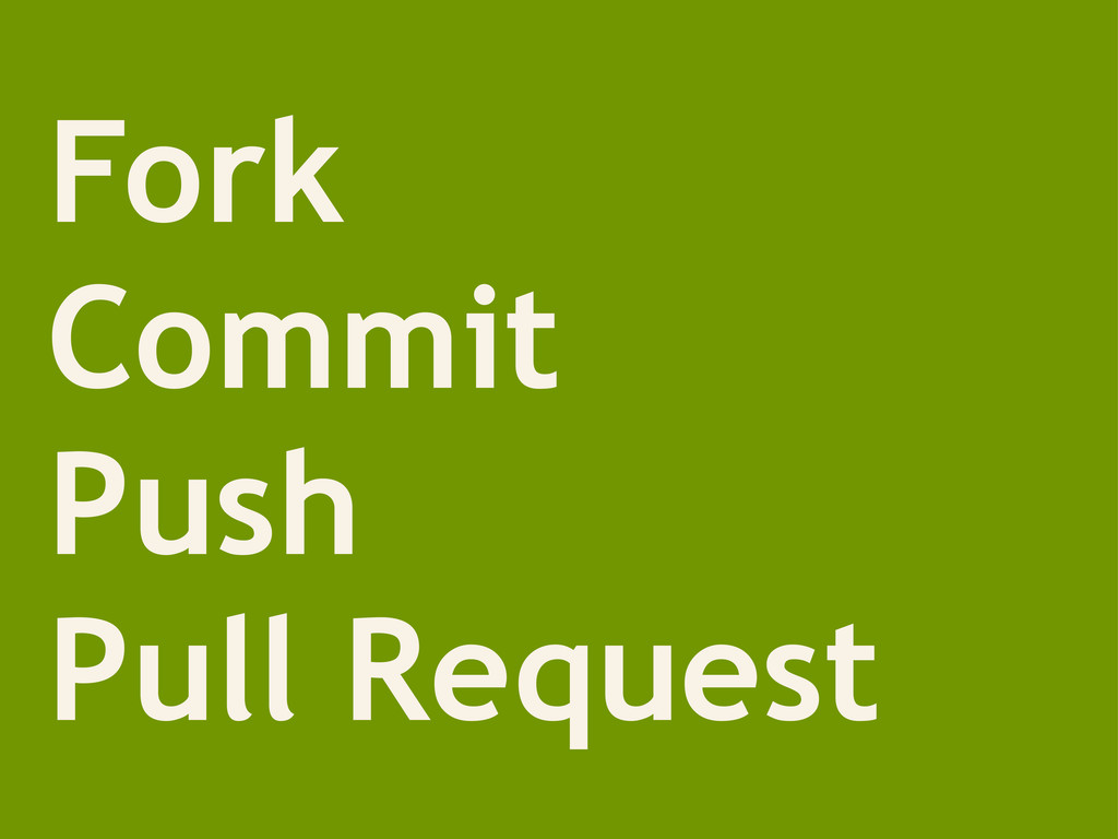 Fork Commit Push Pull Request