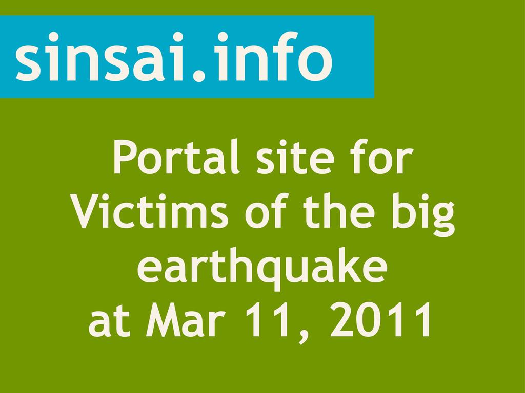 sinsai.info Portal site for Victims of the big ...