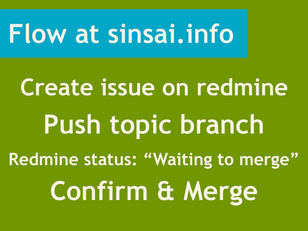 Flow at sinsai.info Create issue on redmine Pus...
