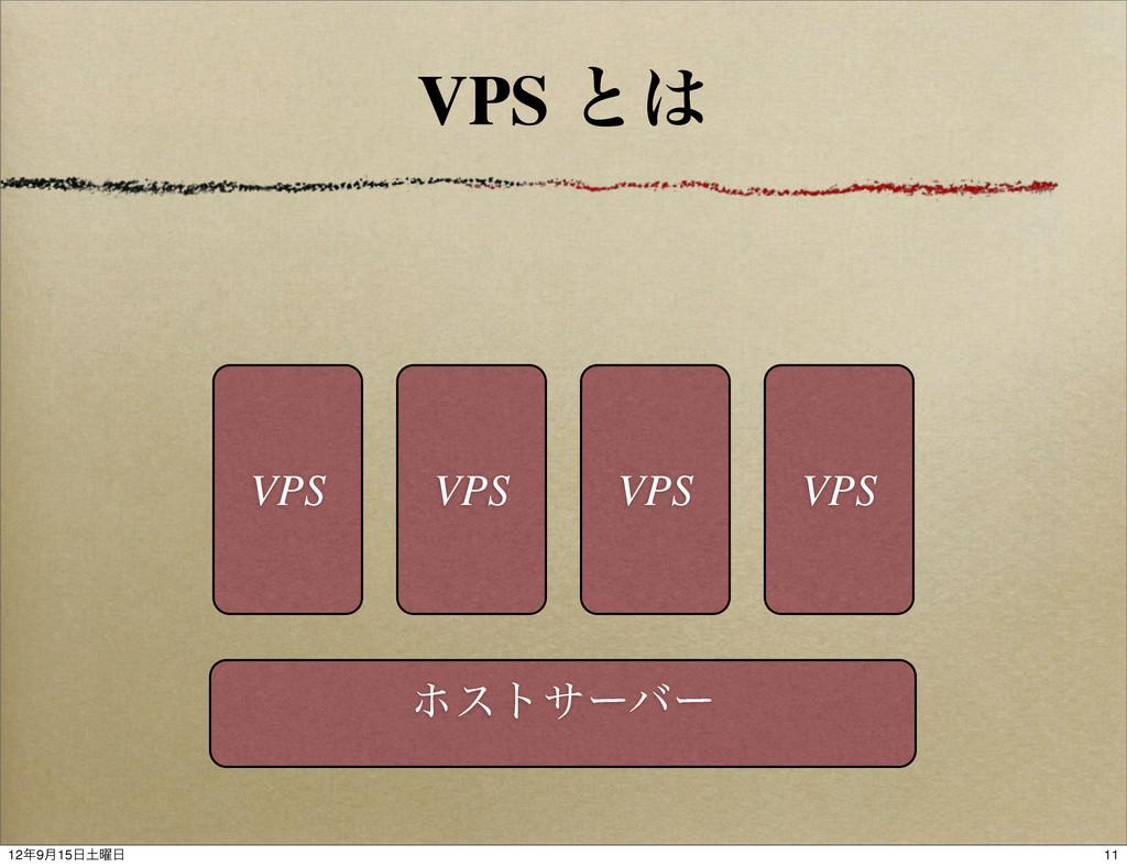 VPS ͱ ϗεταʔόʔ VPS VPS VPS VPS 11 129݄15༵