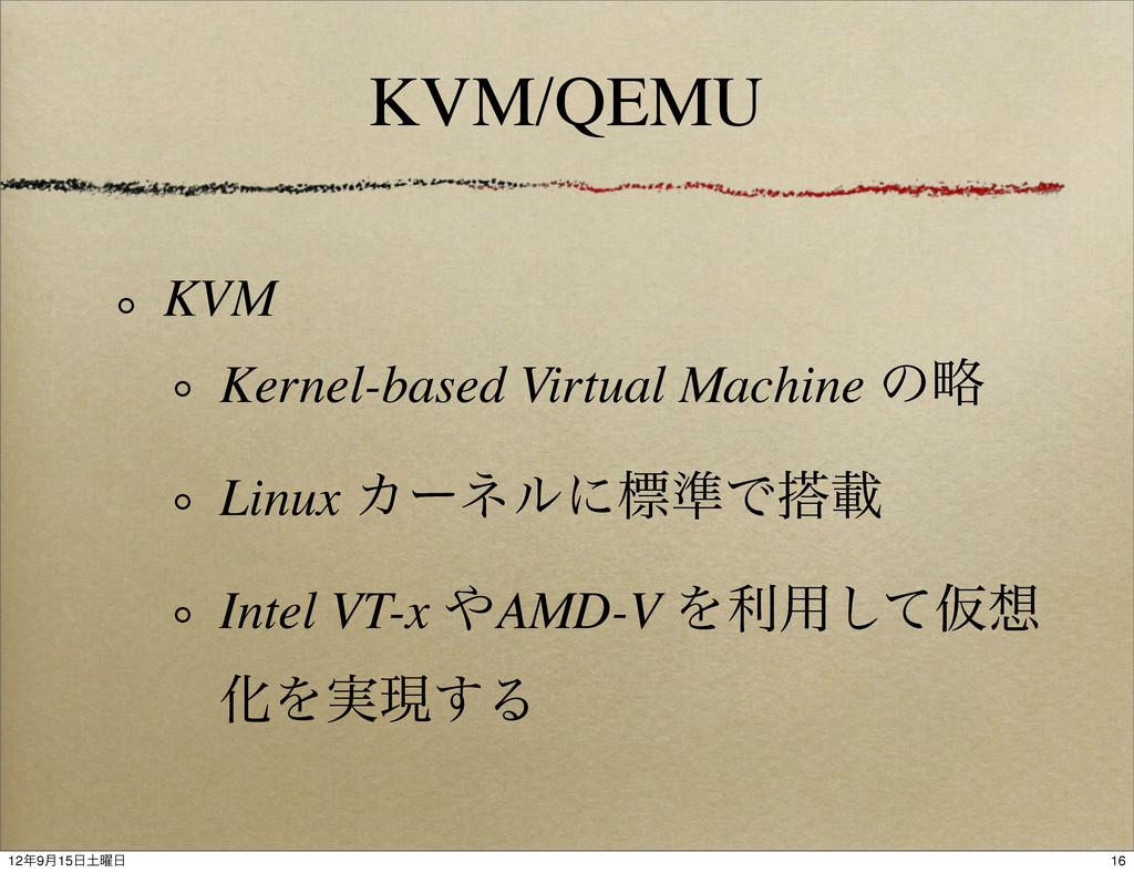 KVM/QEMU KVM Kernel-based Virtual Machine ͷུ Li...