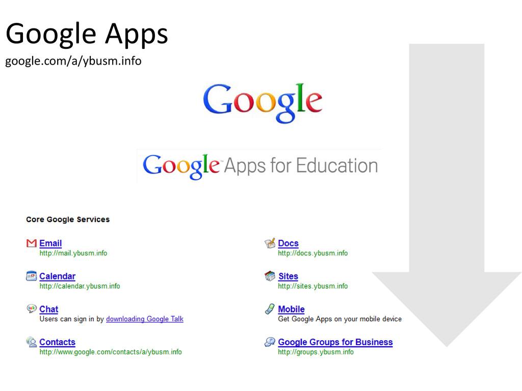 Google Apps google.com/a/ybusm.info
