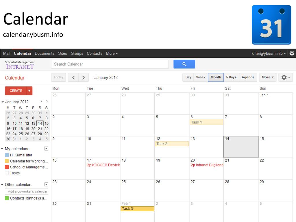 Calendar calendar.ybusm.info