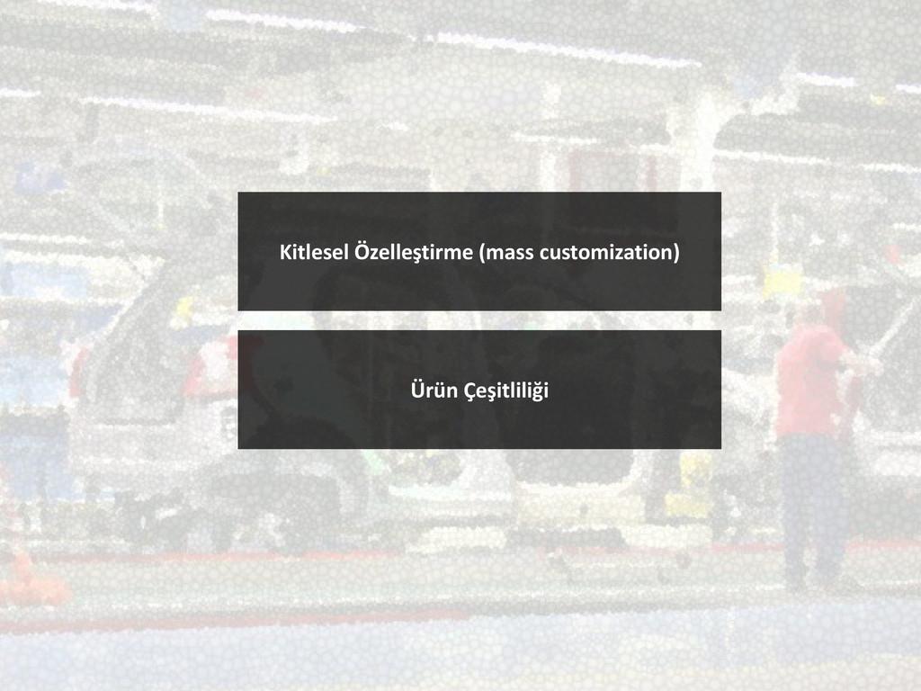 Kitlesel Özelleştirme (mass customization) Ürün...
