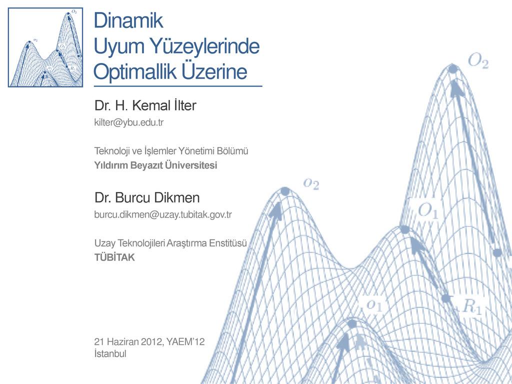 Dinamik Uyum Yüzeylerinde Optimallik Üzerine Dr...