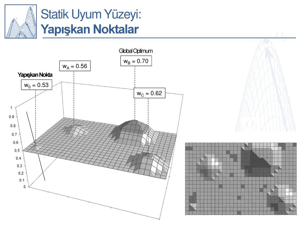 Statik Uyum Yüzeyi: Yapışkan Noktalar wA = 0.56...