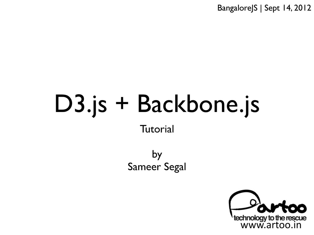 D3.js + Backbone.js Tutorial by Sameer Segal Ba...