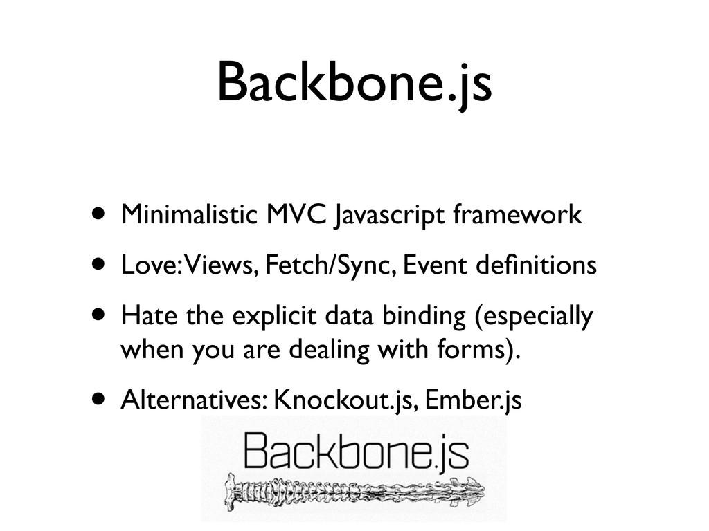 Backbone.js • Minimalistic MVC Javascript frame...