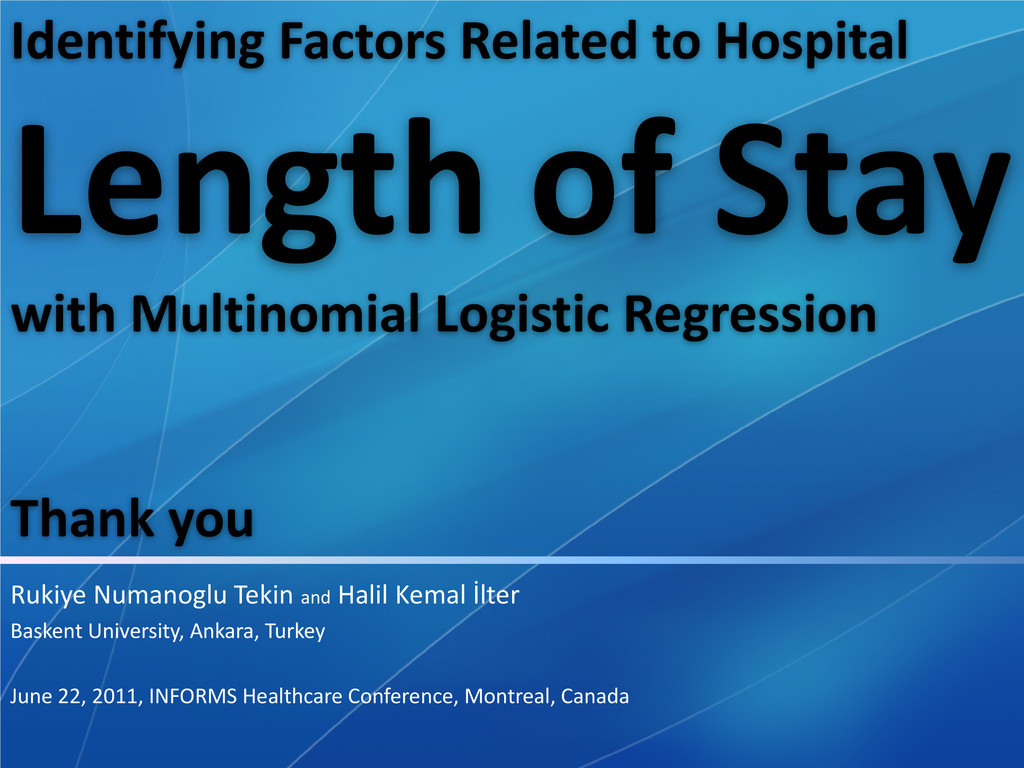 Identifying Factors Related to Hospital Length ...