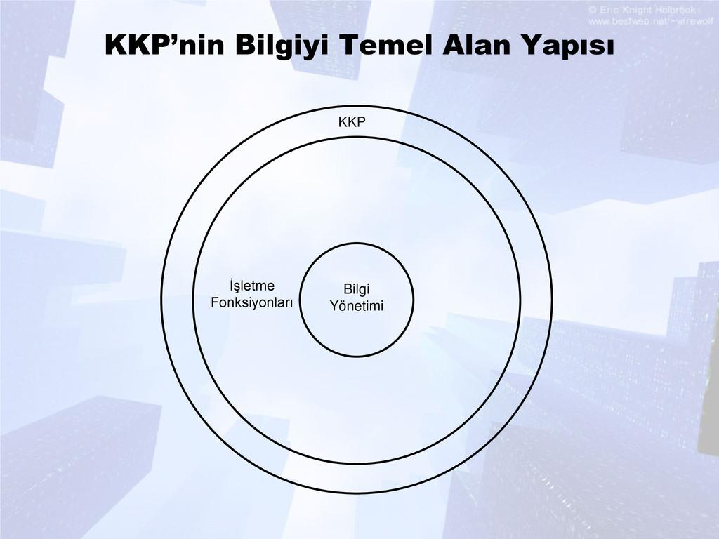 KKP'nin Bilgiyi Temel Alan Yapısı Bilgi Yönetim...