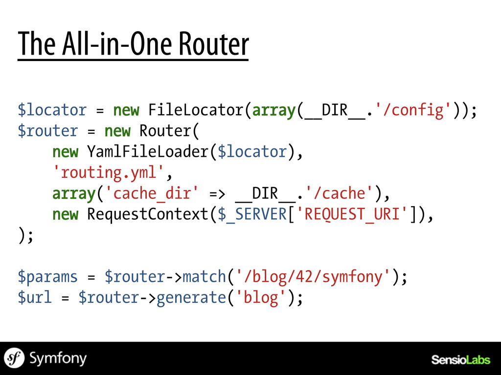 $locator = new FileLocator(array(__DIR__.'/conf...
