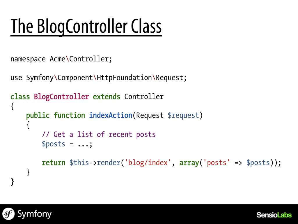 namespace Acme\Controller; use Symfony\Componen...