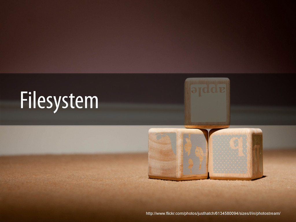 Filesystem http://www.flickr.com/photos/justhat...