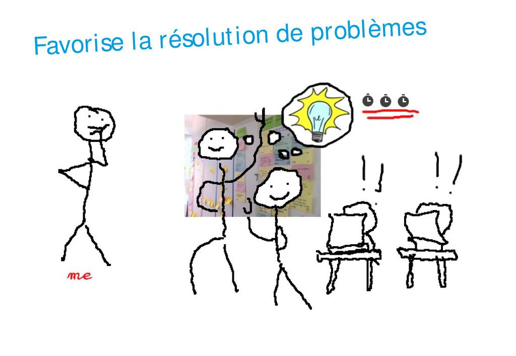 Favorise la résolution de problèmes