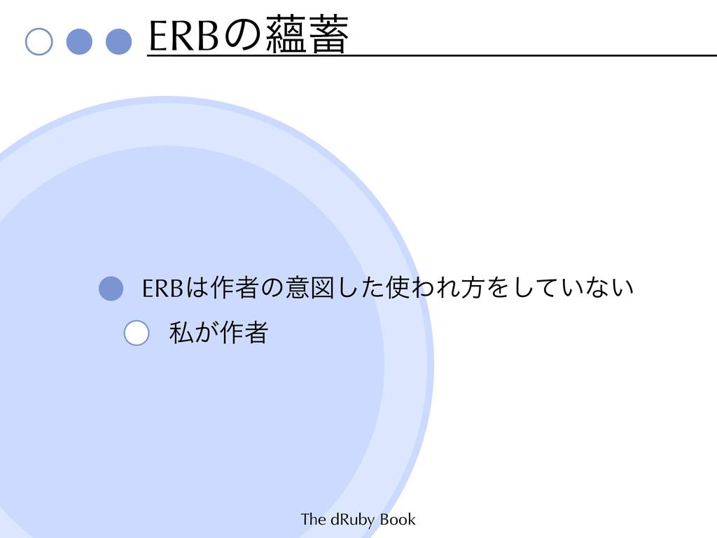 The dRuby Book ERBͷ᥅ ERB࡞ऀͷҙਤͨ͠ΘΕํΛ͍ͯ͠ͳ͍ ࢲ͕࡞ऀ