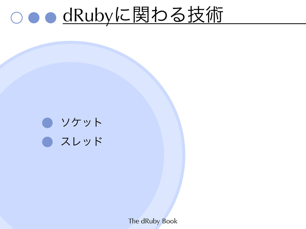 The dRuby Book dRubyʹؔΘΔٕज़ ιέοτ εϨου