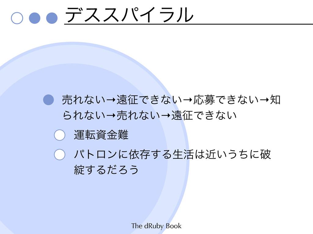 The dRuby Book σεεύΠϥϧ ചΕͳ͍→ԕͰ͖ͳ͍→ԠืͰ͖ͳ͍→ ΒΕͳ...
