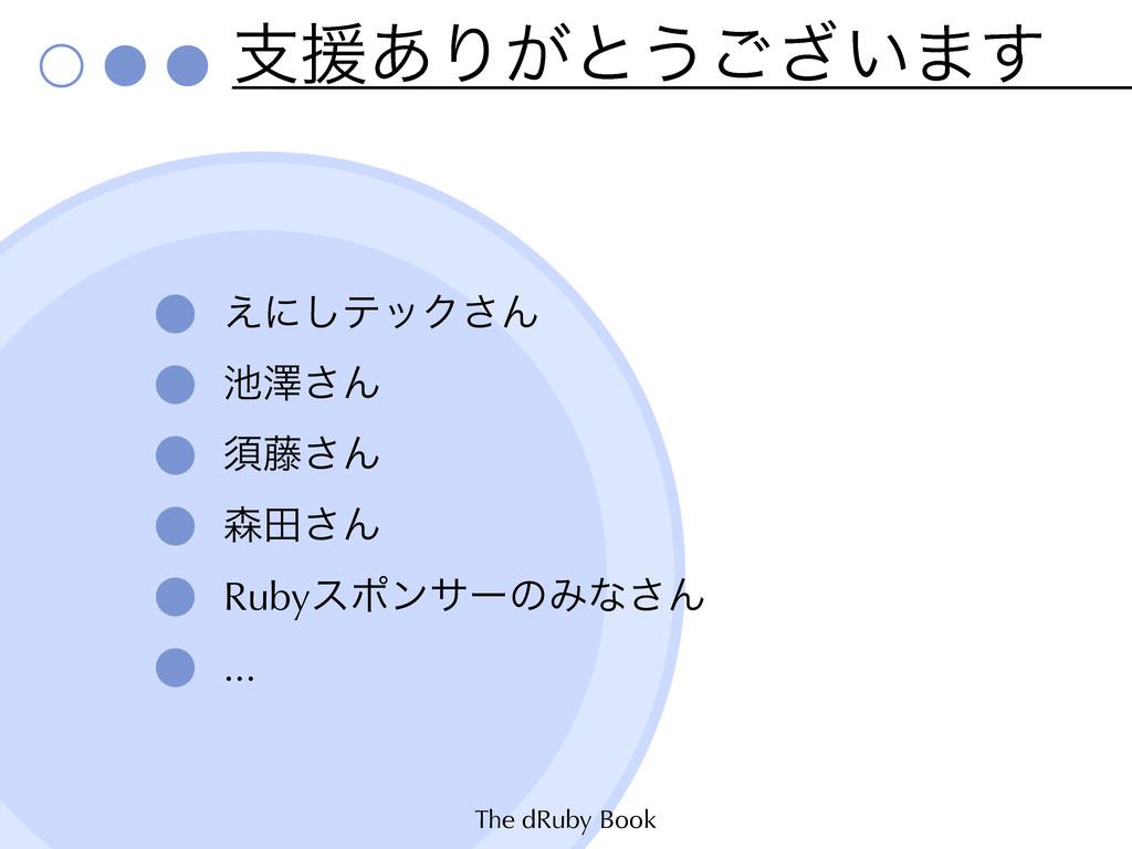 The dRuby Book ࢧԉ͋Γ͕ͱ͏͍͟͝·͢ ͑ʹ͠ςοΫ͞Μ ᖒ͞Μ ਢ౻͞Μ ...