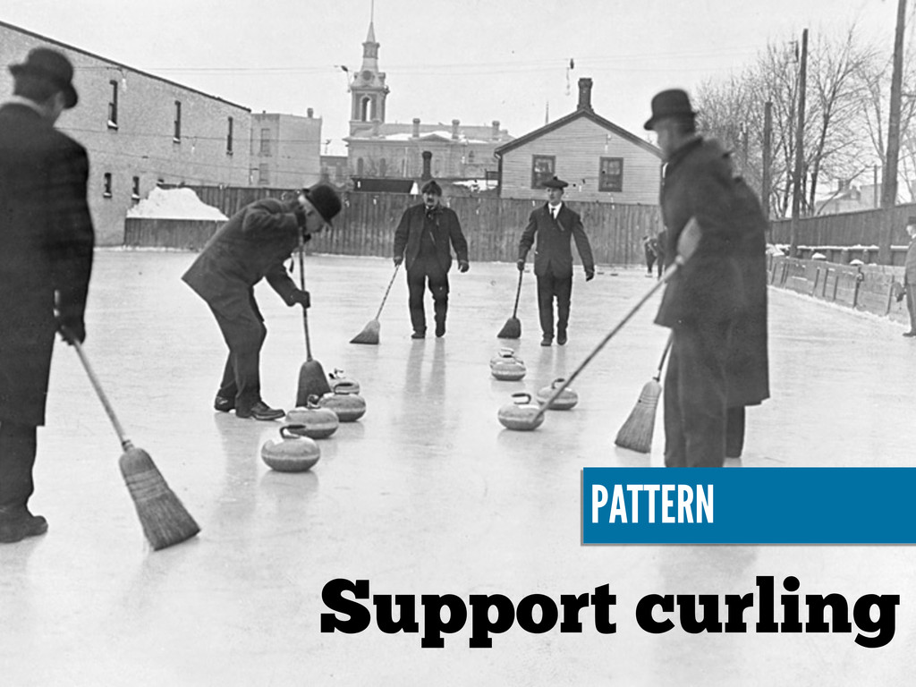 Support curling PATTERN