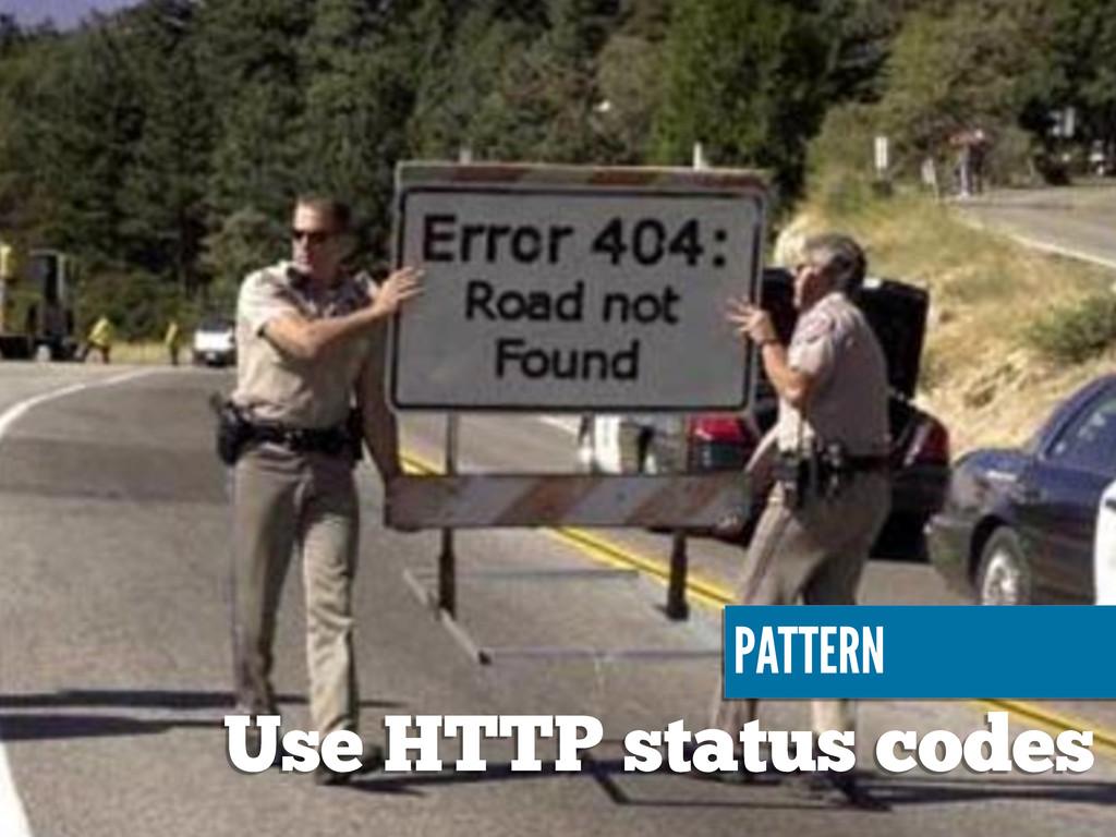 PATTERN Use HTTP status codes