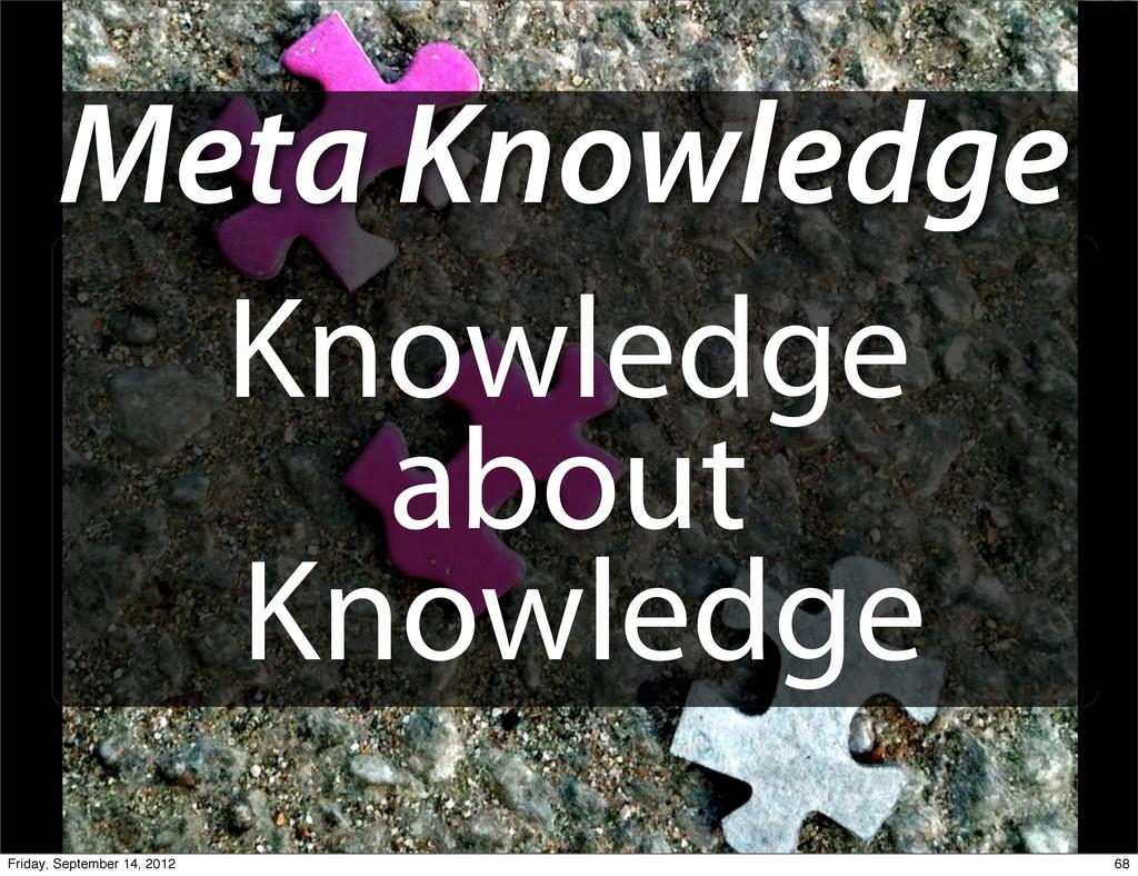 Meta Knowledge Knowledge about Knowledge 68 Fri...