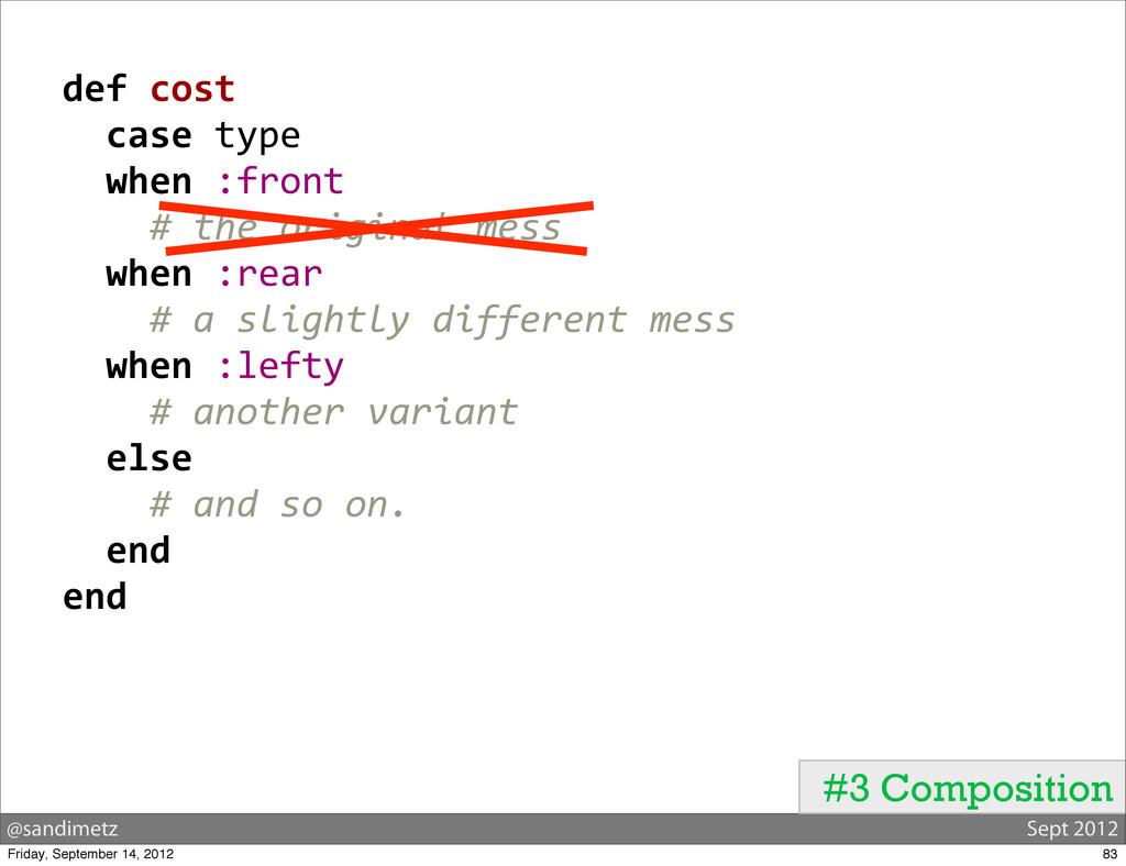 @sandimetz Sept 2012 #3 Composition   def...