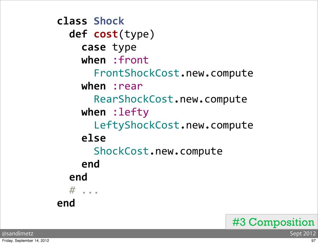 @sandimetz Sept 2012 class Shock   def...