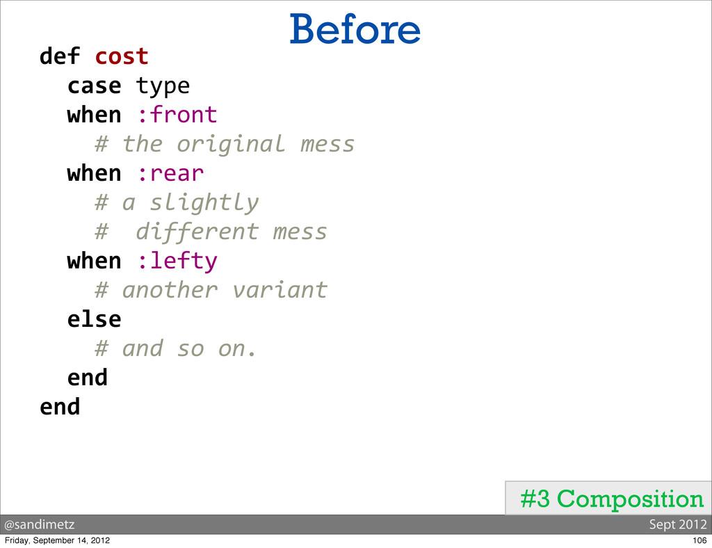 @sandimetz Sept 2012 Before #3 Composition  ...
