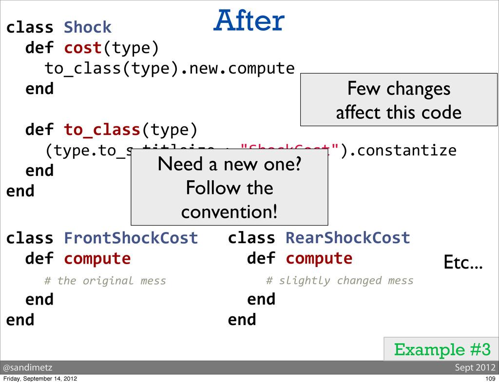 @sandimetz Sept 2012 After Example #3 class ...